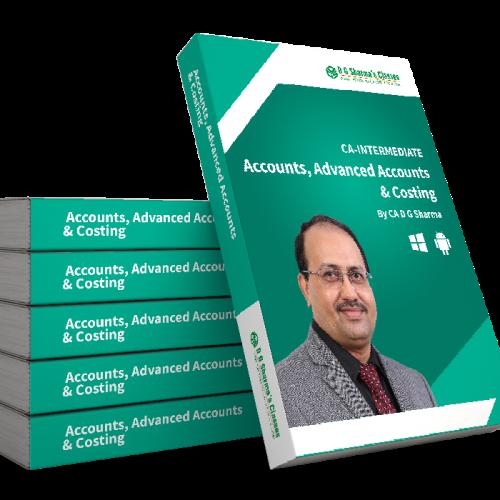 CA Intermediate - Accounts , Advance Accounts and Costing